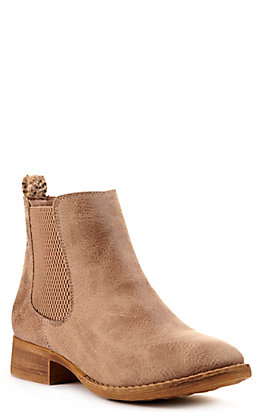 Very G Women's Blake Brown with Leopard Accent Round Toe Bootie