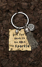 Amber's Allie Gold with You Don't Have to Be Rich to Sparkle Key Chain