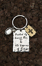 Amber's Allie Silver Fueled by Sweet Tea & The Grace of God Key Chain