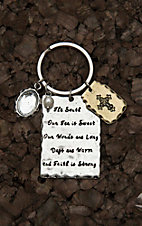 Amber's Allie Silver with The South Our Tea Is Sweet Our Words are Long Our Days are Warm and Faith Is Strong Key Chain