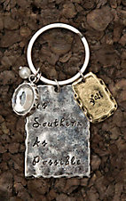 Amber's Allie Silver as Southern as PossibleKey Chain