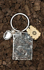 Amber's Allie Silver More Sweet Tea and Sun Shine Key Chain