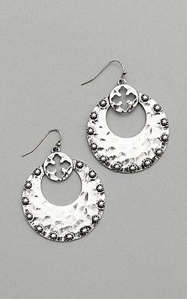 Amber's Allie Silver Hoop Earrings
