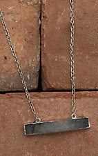 Amber's Allie Silver with Grey Pendant Necklace