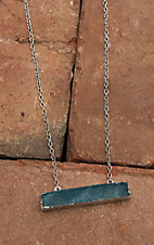 Amber's Allie Silver with Turquoise Pendant Necklace