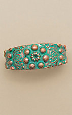 Amber's Allie Patina Copper Cuff Bracelet