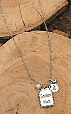 Amber's Allie Silver wsith Southern Made Mason Jar Charm Necklace