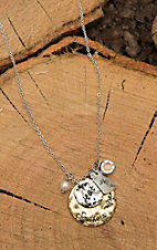 Amber's Allie Silver with Gold Hot Southern Mess Necklace