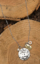 Amber's Allie Silver with Southern Made and Southern Raised Disk Necklace