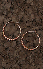 Amber's Allie Copper with Beads Hoop Earrings