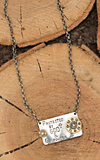 Amber's Allie Silver with Country Girl Can Survive Plate Chain Necklace