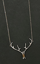 Amber's Allie Silver Antler Rack Necklace