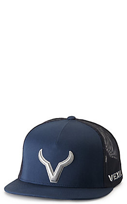 Vexil Icon Navy with Silver Embroidered Logo Cap