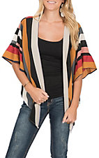 Vine and Love Women's Striped Kimono