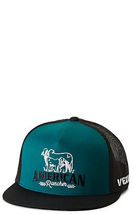 Vexil American Rancher Teal and Black Embroidered Cap