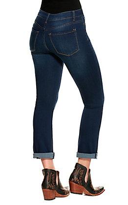 Vervet Women's Skylar Dark Wash High Rise Boot Cut Jeans