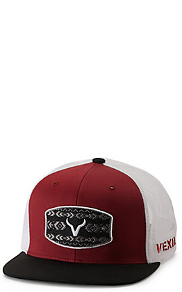 Vexil Warrior Red Berry, White and Black with Aztec Logo Patch Cap