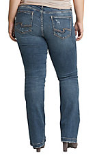 Silver Women's Elyse Mid Rise Slim Boot Jeans - Plus Size
