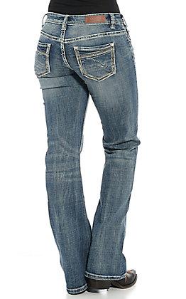 Rock & Roll Cowgirl Women's Light Wash Boot Cut Jeans