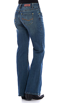 Rock & Roll Cowgirl Women's Mid Rise Flare Jeans