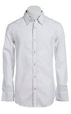 Roar Men's White Parliament L/S Western Shirt W212031R