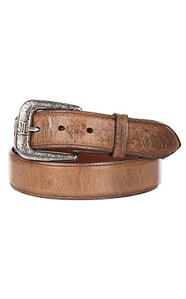 Lucchese Men's Solid Tan Mad Dog Goat Leather Western Belt