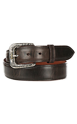 Lucchese Men's Solid Chocolate Mad Dog Goat Leather Western Belt