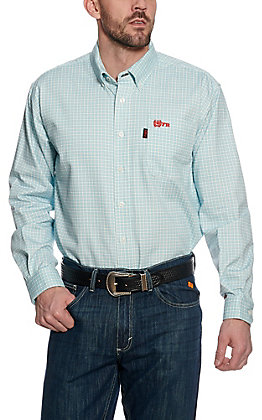 Cinch Men's Flame Resistant Plaid Workshirt W3001006TUR