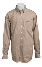 Cinch Men's Flame Resistant Check Workshirt  W3001010BRN