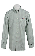 Cinch Men's Flame Resistant Plaid Workshirt W3001015AST