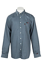Cinch Men's Blue Woven FR Workshirt