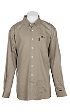 Cinch Men's Tan Woven FR Workshirt