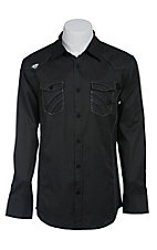 Roar Men's Parralel Black L/S Western Shirt W52017BK