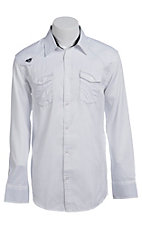 Roar Men's Parallel White L/S Western Shirt W52017WH