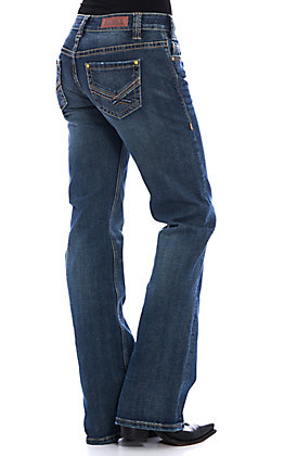 Rock & Roll Cowgirl Women's Riding Bootcut Extra Stretch Jeans