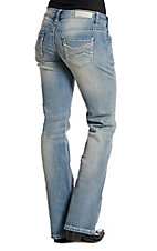 Rock & Roll Cowgirl Women's Thick Stitch Boot Cut Riding Jeans