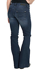 Rock & Roll Cowgirl Women's Navy Open Pocket Trouser Jeans