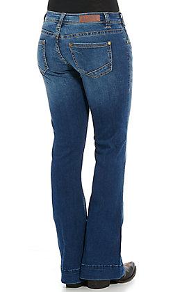 Rock & Roll Cowgirl Women's Medium Wash Trouser Jeans