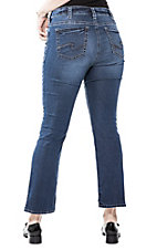 Silver Women's Dark Aiko Slim Boot Cut Jeans - Plus Size