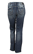 Silver Jeans Women's Medium Wash Aiko Mid Rise Boot Cut Jeans - Plus Size