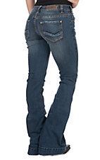 Rock & Roll Cowgirl Women's Vintage Trouser with Seam Detail Jeans
