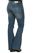 Rock & Roll Cowgirl Women's Medium Wash Extra Stretch Trouser Jeans