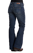 Rock & Roll Cowgirl Women's Dark Wash Basic Pocket Trouser