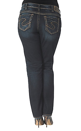 Silver Jeans Women's Suki Straight Jeans - Plus Size
