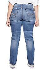 Silver Jeans Suki Medium Wash Straight Leg Jeans