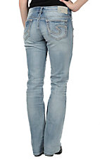Silver Jeans Women's Light Wash Suki Mid Rise Relaxed Fit Slim Boot Cut Jean - Plus Size