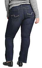 Silver Jeans Women's Slim Boot Suki Mid Rise Jeans - Plus Size