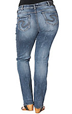 Silver Jeans Women's Suki Medium Wash Slim Fit Boot Cut Jeans - Plus Size