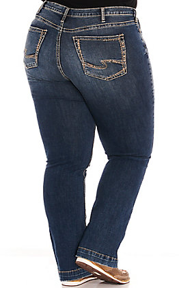 Silver Women's Calley Super High Rise Boot Cut Plus Size Jeans
