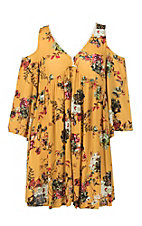 Umgee Women's Honey Floral Print Dress